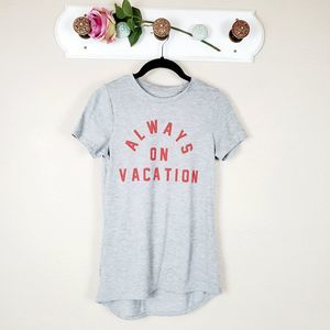 Zoe + Liv Always on Vacation T-shirt Graphic Top